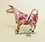 Red splatter painted cow creamer with long horn