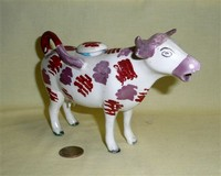 Purple nosed Swansea cow creamer without base, right