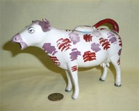 Purple nosed Swansea cow creamer without base, left