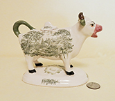 Kent style cow creamer from Stoke-on-Trent museum