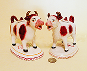 2 brown and white Kent style creamers bougth in UK in 96 &97