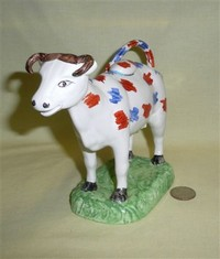Swansea Cambrian cow creamer reproduction, front