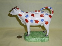 Swansea Cambrian cow creamer reproduction, side