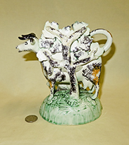 Large Tittensor Cow creamer with boscage, back