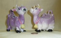 Purple cow creamer and sugar
