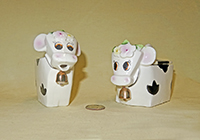 Lefton cow sugar and creamer