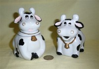 Floppy eared cow creamer and sugar