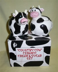 Giftco cow creamer and sugar