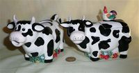 New Marco Polo cow creamer and sugar