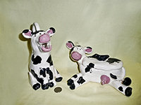 Jan Owsley cow creamer and sugar