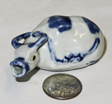 Chinese small blue & white suiteki