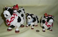 Barnyard cow teapot set by Appletree Design