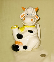 paint it yourself cow with shell horns teapot 1