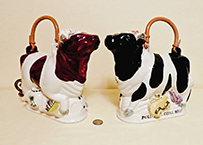 Andy Titcomb bull in a china shop cow teapots