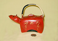 1 red japanese teapot