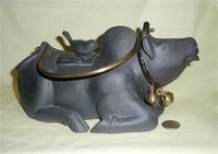 Stoneware cow teapot from Java