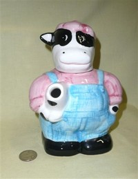 French dairy farmer cow teapot