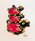 Thames of Japan black cow teapot nstack