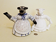Paint it yourself and bisque cow lady teapots