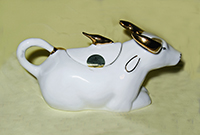 White water buffalo with gold horns teapot from Sri Lanka